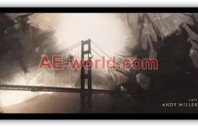 复古水墨晕染图文展示视频片头AE模板