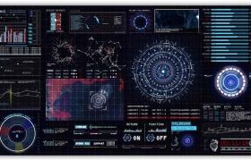 HUD科幻界面动画元素AE模板
